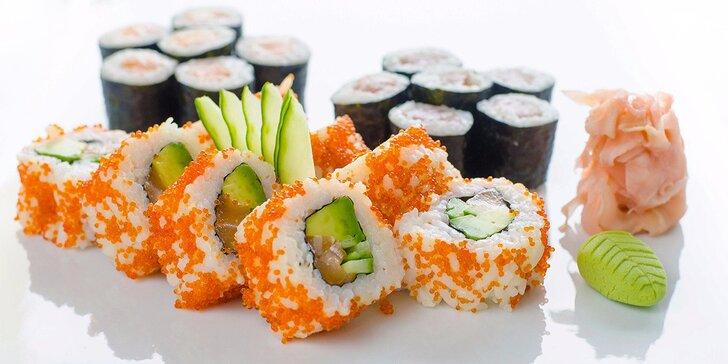 Pestré sushi sety s sebou: 12 nebo 24 kousků vonících mořem