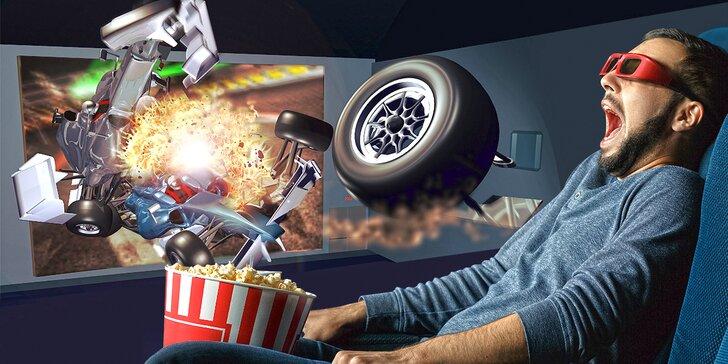 Zapojte všechny smysly: 2 lístky na interaktivní film do 5D kina Harfa dle výběru