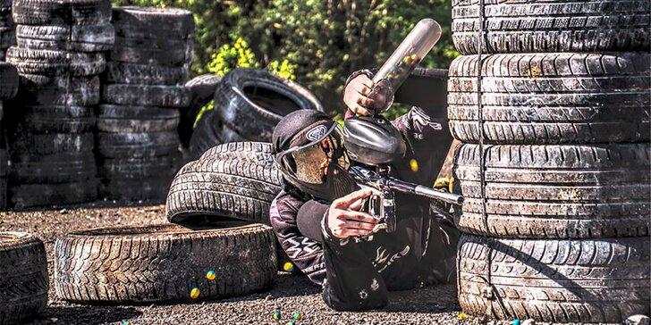 Adrenalinová střílečka v Piraňa Paintball – venkovní hřiště i atomový kryt