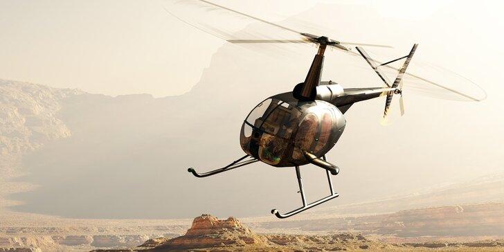 60 minut pilotem vrtulníku: Autentický zážitek na plně pohyblivém simulátoru