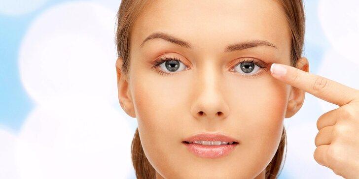 Přístrojové omlazení očního okolí a pozvednutí horních víček