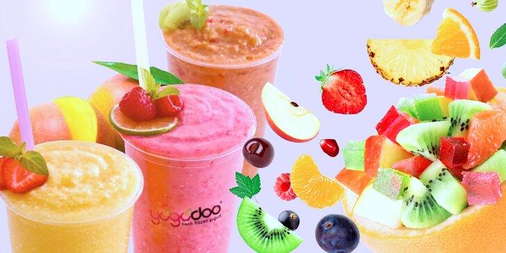 Lahodné osvěžení: dva jogurtové nebo ovocné smoothies koktejly Yogodoo