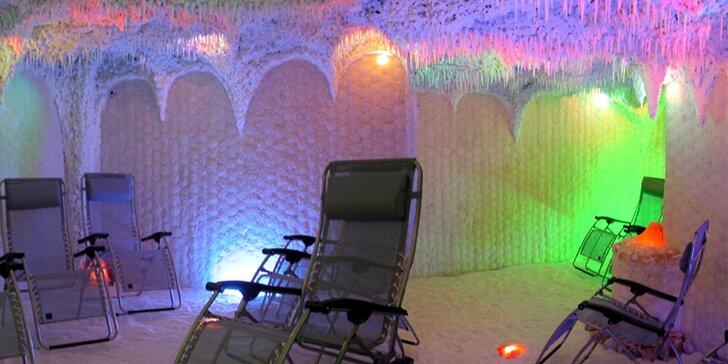 Relaxace v solné jeskyni Star s masáží a parafínovým zábalem