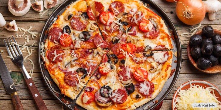 Dvě pizzy dle vlastního výběru v pizzerii U Dušičků