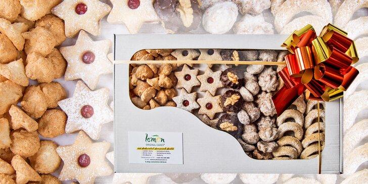 500g nabo 1000g krabička tradičního vánočního cukroví bez lepku