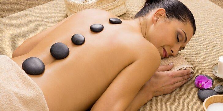 Podzimní hřejivá masáž s lávovými kameny