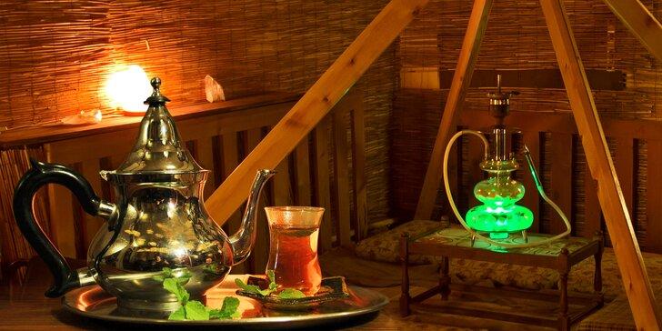 Čajový dýchánek a posezení u vodní dýmky v čajovně Buddha