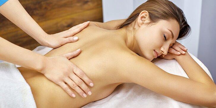 60minutová masáž dle vašeho výběru ze 3 druhů masáží