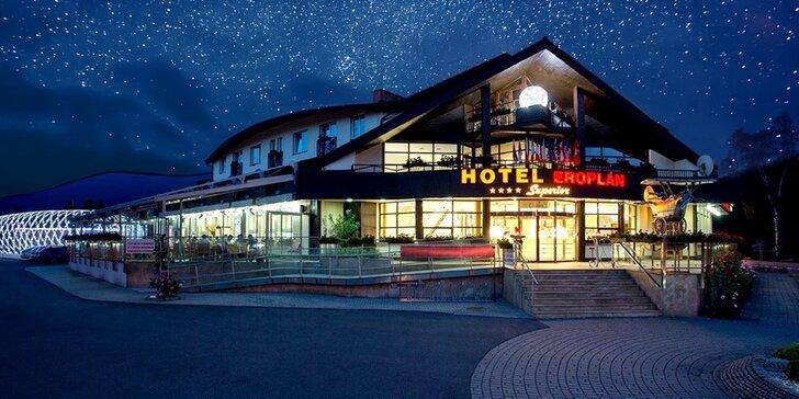 Wellness pohoda vč. masáže a 3chodových večeří v Hotelu Eroplán**** v Rožnově