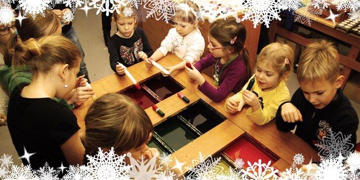 Předvánoční vlastnoruční zdobení svíček nebo ozdob pro děti i dospělé