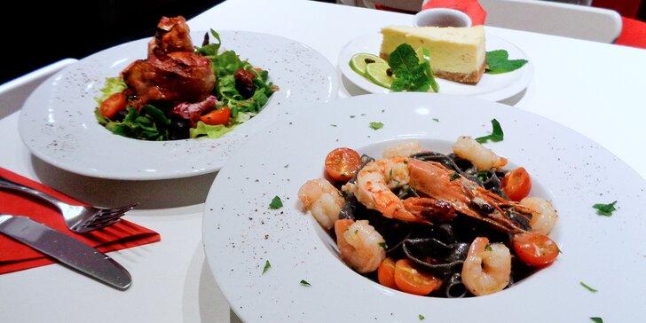 3chodové exotické menu s krevetami pro 2 osoby v centru Brna