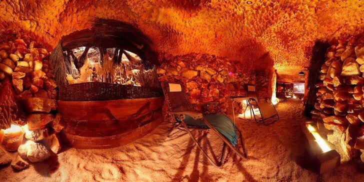 Privátní relaxace v pravé solné jeskyni až pro 7 osob