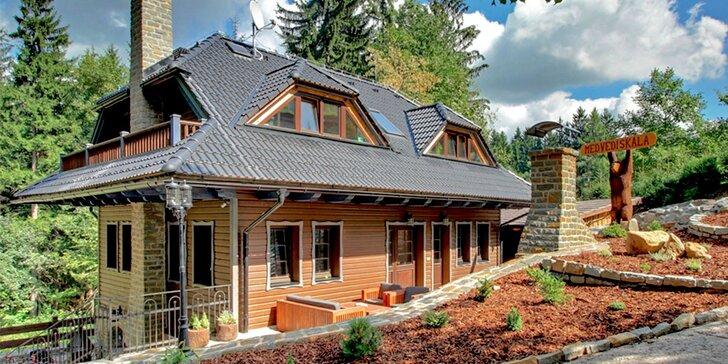 Přepych v Beskydech v luxusně vybavených chatách s wellness až pro 10 osob