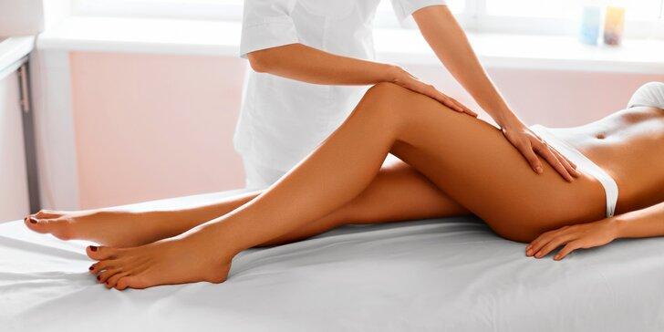 Baňková anticelulitidová masáž nohou včetně zábalu
