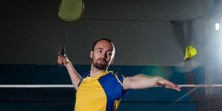 Hodinový pronájem badmintonového kurtu na Malešicích - platí pro všední dny