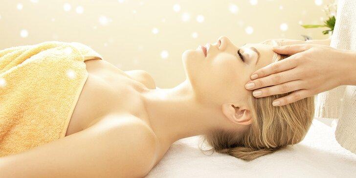 Vánoční dárek: Relaxační masáž + Indická masáž hlavy
