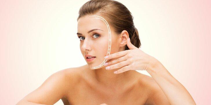 Lifting obličeje s použitím kyseliny hyaluronové a relaxační lymfodrenáž těla
