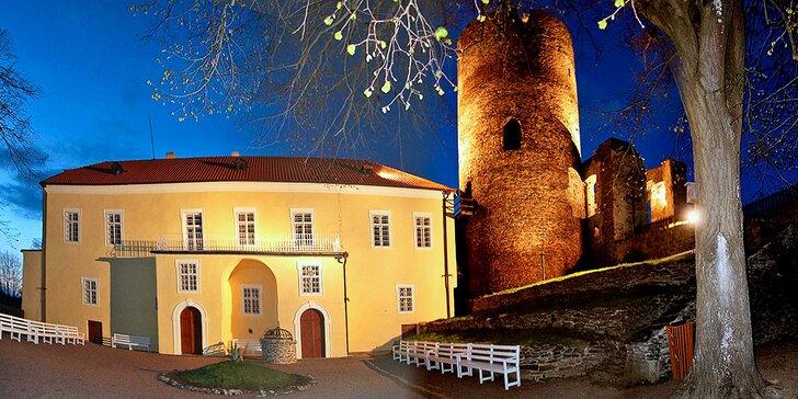 Dobrodružství v komnatách hradu Svojanov včetně polopenze a prohlídky