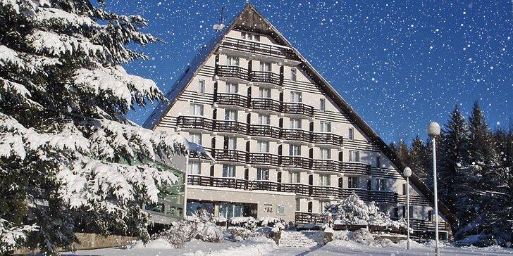 Pohodová zimní dovolená na Vysočině s bohatou polopenzí a wellness