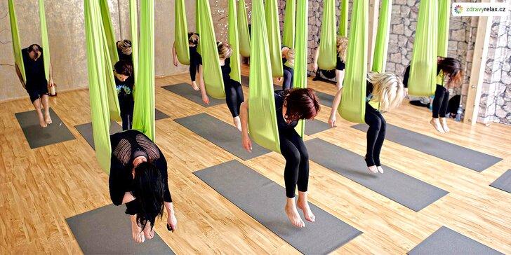Měsíční permanentka na skupinové cvičení AntiGravity® jógy