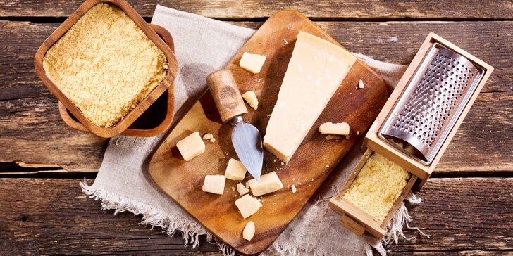 Exkluzivní italské sýry Parmareggio – vč. dárkových balení s příslušenstvím