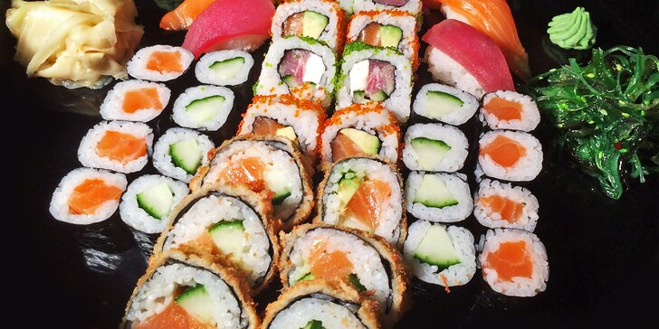 To nejlepší z Asie: Parádní sushi set s 40 barevnými kousky