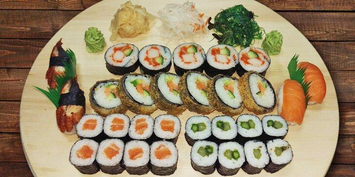 Hostina ve jménu exotiky a zdravých lahůdek: Sushi sety plné skvělých kousků