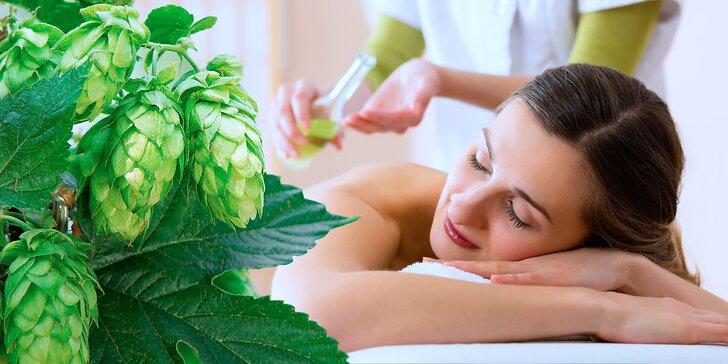 1,5 hodiny relaxace: Pivní koupel ve vířivé vaně a masáž + nápoje