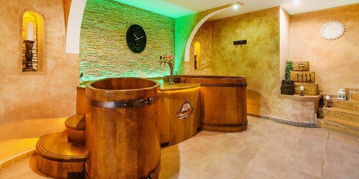 Relax v Beskydech s privátním wellness a prohlídkou pivovaru