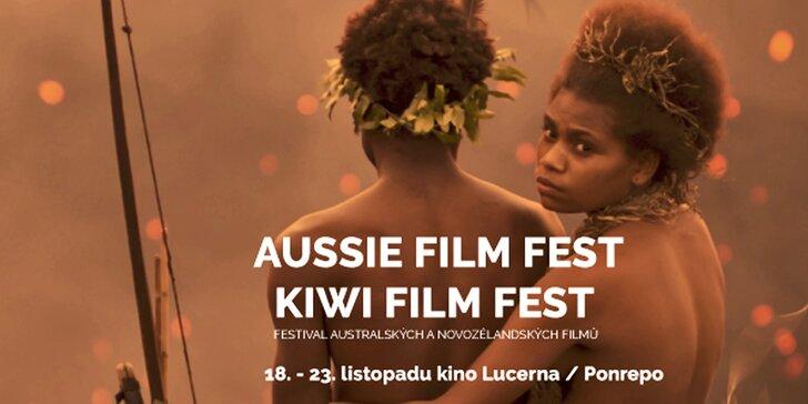 2 lístky na australský filmový festival promítaný v kině Lucerna