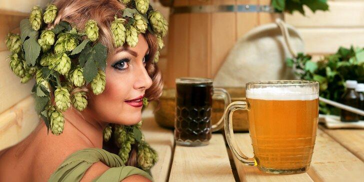 Soukromý relax v pivních lázních pro dva včetně konzumace piva