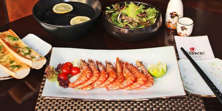 Z grilu rovnou na talíř: Tygří krevety připravené přímo před vámi