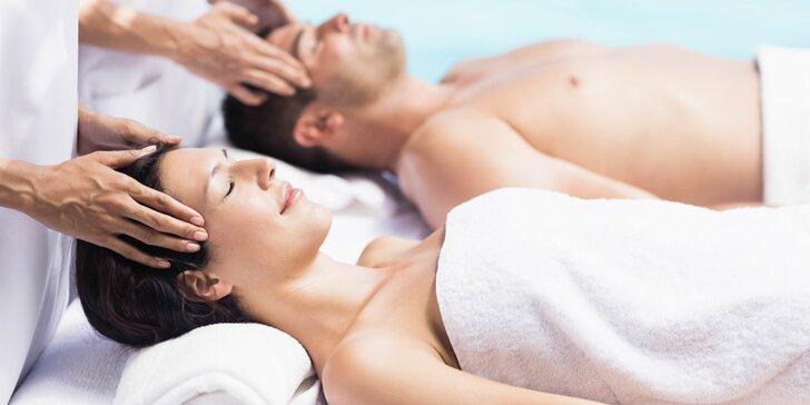 Sdílejte opojnou relaxaci: 90 minut luxusní párové masáže včetně infrasauny