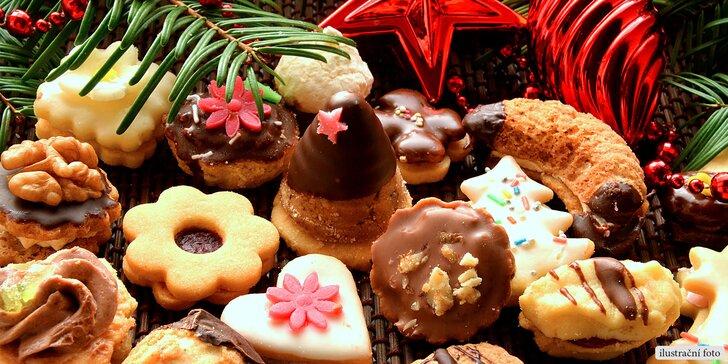 Krabice plná tradičního vánočního cukroví - 300, 500 nebo 1000 gramů