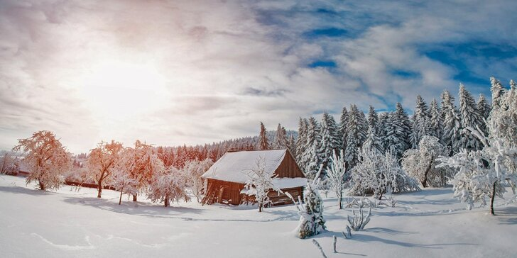 3 nebo 5denní zimní pohodička s polopenzí i lyžování u Božího Daru