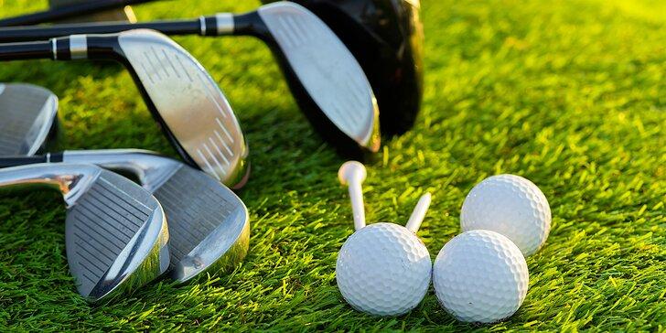 Na den golfistou: 2hodinová lekce s trenérem a opravdová hra ve Slavkově