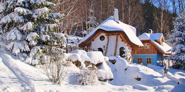 Kouzelná zima či jaro v Pohádkové vesničce pro rodiče a dvě děti do 12 let