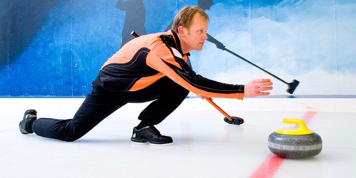 Curlingové lekce pro veřejnost v Centru Třešňovka