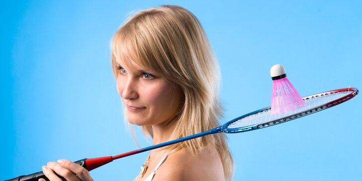 Hodinový pronájem badmintonového kurtu ve všední dny