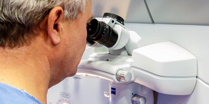 Důkladné předoperační vyšetření očí na špičkové klinice Oftum Prague