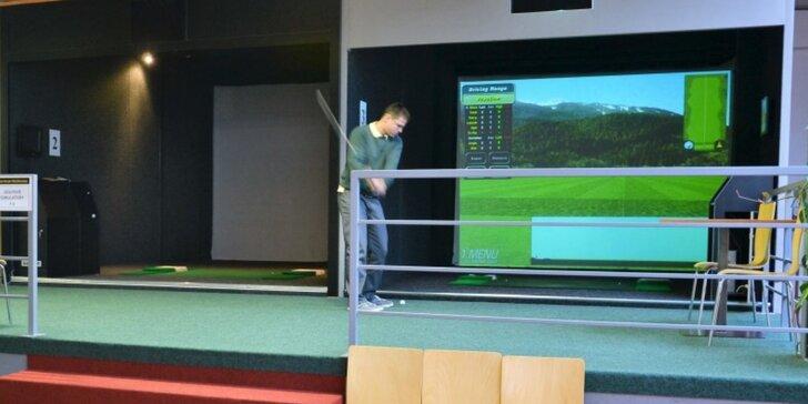 Hodina na indoorovém golfovém simulátoru až pro 6 lidí