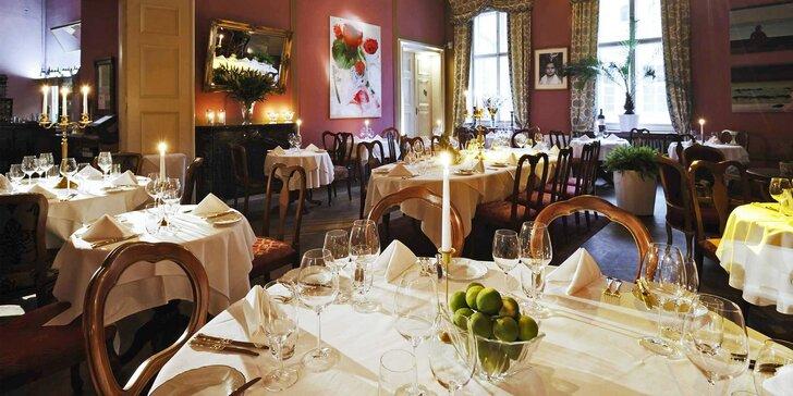 Královské hodování v paláci: Luxusní degustační menu a špičková obsluha