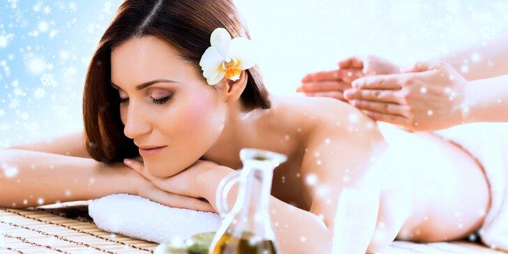 Andělské hýčkání v salonu Thai Sun: 110 minut relaxace s masáží dle výběru