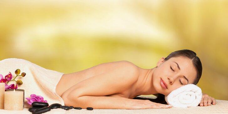 90minutová relaxace - výběr z 6 druhů luxusních a exotických masáží