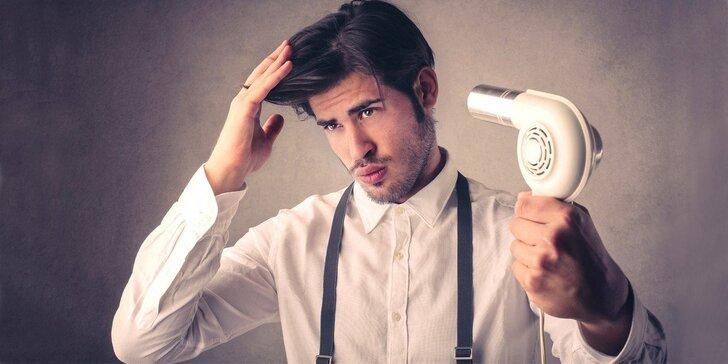Moderní střih pro pány včetně masáže hlavy a vynikající kávy