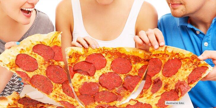 Velká 2 200g pizza Jumbo Krtek s ingrediencemi dle výběru