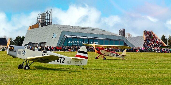 Zážitek pro nadšence do letadel: Vstup do leteckého muzea a na simulátor