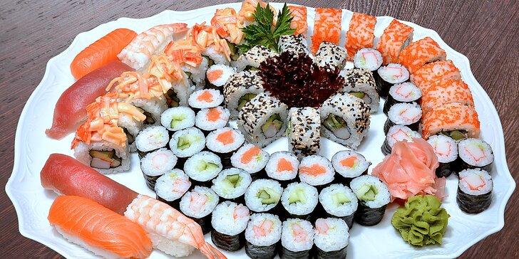 Čerstvé gurmánské sety v luxusní sushi restauraci: Až 62 kousků plných exotiky