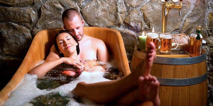 Postřižiny naživo: 60 minut privátní relaxace v pivních lázních pro dva