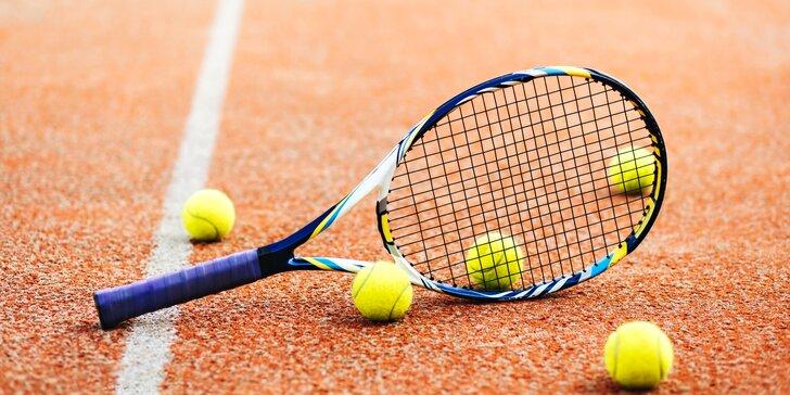 Pronájem tenisového kurtu na hodinu v čase dle výběru